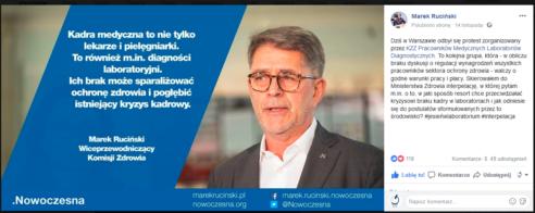 2018.11.07 Interpelacja posła Marka Rucińskiego w sprawie diagnostyki laboratoryjnej