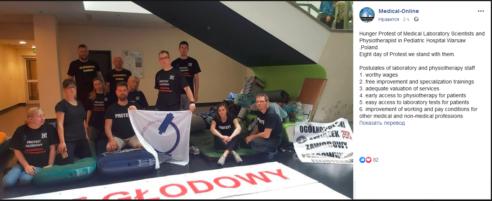 2019-05-28 K. Janda i J. Wesołowski popierają postulaty głodujących