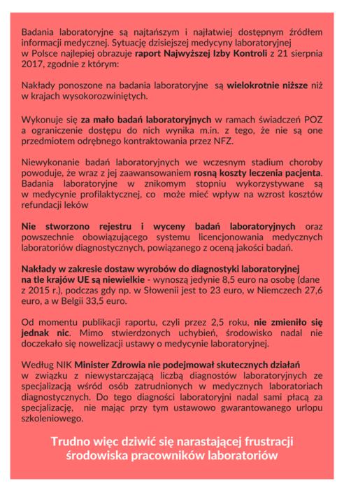 2020-02-14 Katastrofalny stan diagnostyki laboratoryjnej w Polsce
