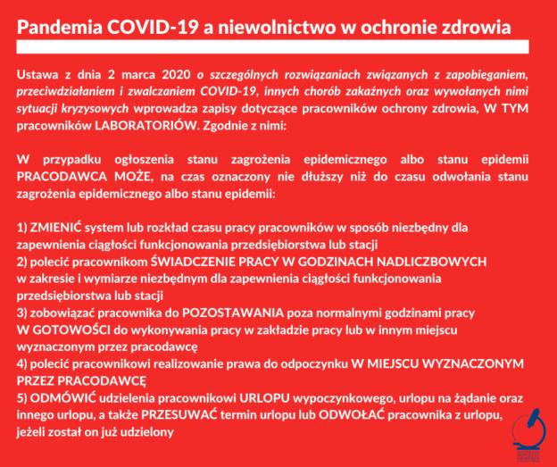 Skandaliczne zapisy dotyczące prawa pracy w ustawie o COVID-19