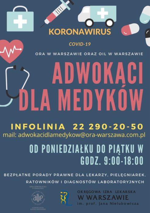 Nieodpłatna pomoc prawna od Okręgowej Rady Adwokackiej w Warszawie dla diagnostów laboratoryjnych