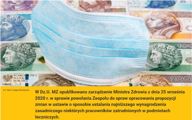Minister Zdrowia powołuje zespół ds. ustawy o wynagrodzeniach
