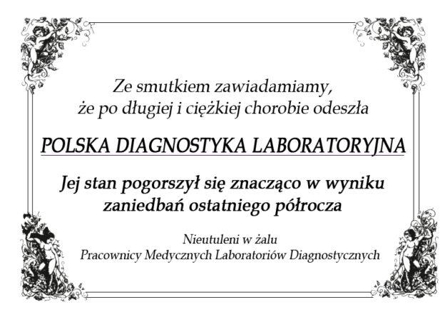 2020-11-01 pogrzeb polskiej diagnostyki laboratoryjnej