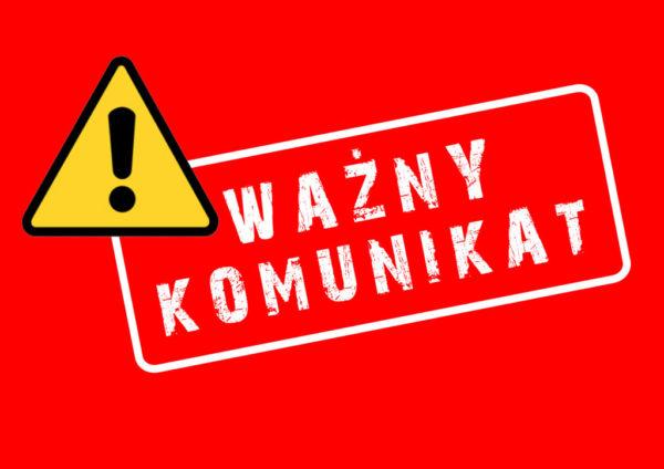 UWAGA! ZMIANY ORGANIZACYJNE!