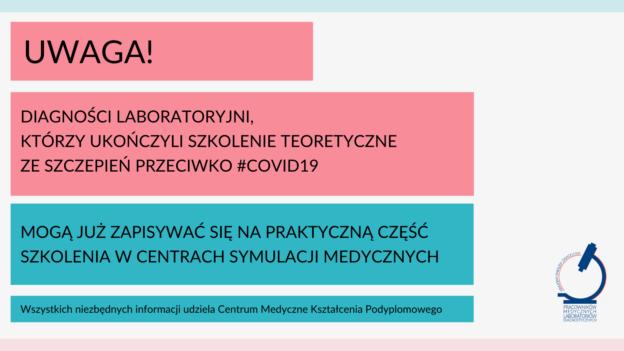 Szkolenia praktyczne ze szczepień przeciwko COVID-19 dla diagnostów laboratoryjnych